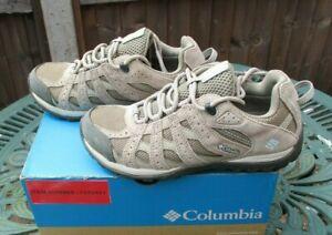 Ladies Columbia Trainers Redcrest Waterproof Walking Shoes Pebble Sky Blue UK 5