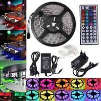 5M 10M 30M RGB 5050 SMD 60 LEDs/m Waterproof 12V Led Strip Light + 44 Key Remote