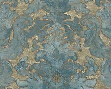 Vliestapete Floral blau türkis gold livingwalls Bohemian Burlesque 96046-1 (3,41