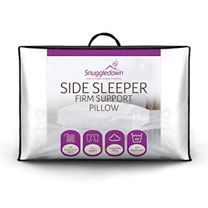 Side Sleeper White Pillow Firm Support Designed for Side Sleepers Snuggledown