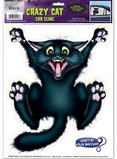Hilarious Halloween Joke Decoration Car Window Cling Crazy Cat Backseat Driver