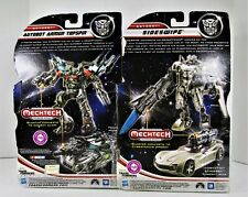 Transformers Mechtech Sideswipe & Autobot Armor Topspin Unopened Action Figures