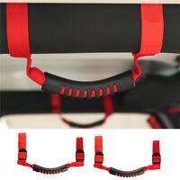 2x Red Roll Bar Grab Grip Handle Holder for Jeep Wrangler CJ YJ TJ JK 1987-2018