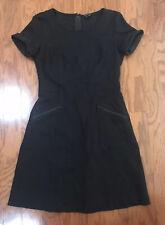 Theory Womens Helaina Pioneer Short Sleeves Ponte A-Line Dress Size 4