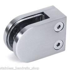 Zintec Brushed Steel Effect Glass Clamp - Handrail Balustrade Metal Clip Bracket