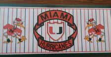 NCAA Miami Huricanes Wallpaper Border Prepasted