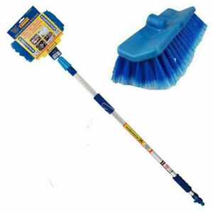 CAR WASH BRUSH TELESCOPING HANDLE VEHICLE CLEANING TOOL SOFT TRUCK MOP 2M NEW