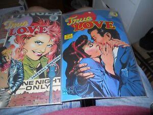 True Love #1 # 2  VF/NM; Eclipse  LOT OF 2 IN WRAP GREAT FIND