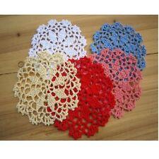 30 x 10cm Coloured Crochet Flowers Doilies Various Mixed Colours