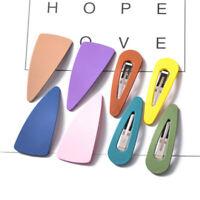 Acrylic Snap Hair Clips Hairpin Barrette Pins Baby Kid Girl Hair Accessories 2PC