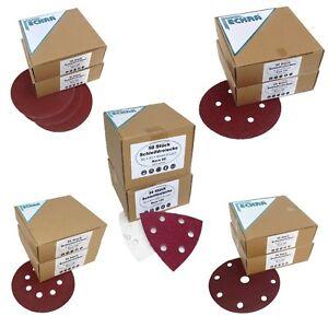 Eckra Schleifscheiben 150 mm 125 mm 180mm verschiedene Lochungen Schleifpapier