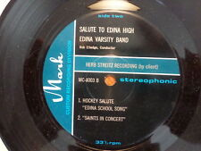 MARK 33RPM 7 INCH RECORD/SALUTE TO EDINA HIGH/ VARSITY BAND/FOOTBALL-BASKETBALL