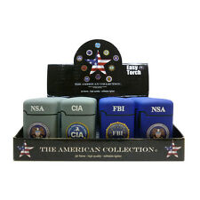 ★ACCENDINO EASY TORCH TURBO CIA FBI NSA ANTIVENTO GAS RICARICABILE VARI COLORI★