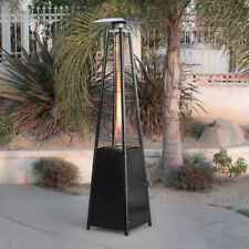 42,000 BTU Pyramid Flame Heater Patio Garden Outdoor Yard Warmth Gazebo Black