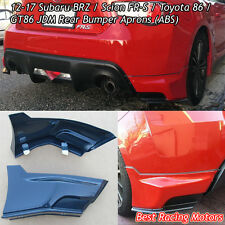 JDM Style Rear Bumper Aprons (ABS) Fits 12-16 Scion FR-S / Toyota 86
