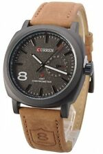 2017 Latest Fashion Curren 8139 Brand Leather Strap Military wrist Watch