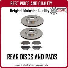 REAR DISCS AND PADS FOR HONDA FR-V 1.8I-VTEC 6/2007-6/2010