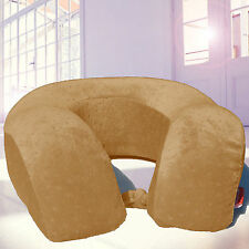 Bookishbunny Memory Foam XL U Shape Travel Pillow Neck Support Head Rest BROWN
