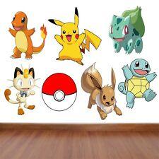 Pokemon Kids Bedroom Vinyl Decal Wall Art Stickers - 7 Character selection