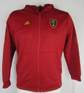 Real Salt Lake MLS Adidas Men's Full Zip Hooded Jacket