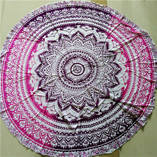 "Indian mandala antique beach towel throw yoga mat 72"" boho ombr gypsy TAPESTRY"