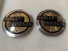 Harley XLH FL Early NOS OEM 1958 Tank Emblems 1958 OEM# 61773-58 Not Eagle Iron!