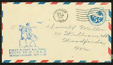 1931 FIRST FLIGHT AIR MAIL ROUTE AM 12 TRINIDAD, CO - UC2 POSTAL  (ESP#1491)