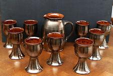 Keramik Most Weinkrug & 9 Pokalbecher ausgefallene Studio Keramik - Handarbeit !