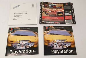 Sony Playstation 1 Need For Speed III Front, Back Cover & Manual PAL Version PS1