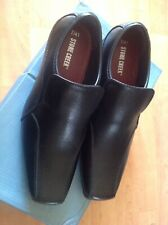 Mens Black Slip On Stone Creek Size 7 Shoes RRP £32 New Shop Clearance (arkley2)