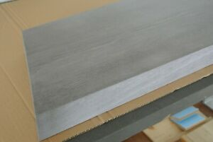 oak stair treads, 60mm thick, stained to grey and varnished