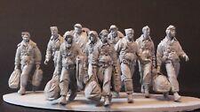 Modelos de AC USAAF B17 Crew 10 Figuras + base Segunda Guerra Mundial 1/32nd sin pintar KIT