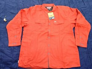 SIMMS ColdWeather Shirt Jacket, Grid Fleece Lined, ORANGE, NEW, Sz    3XL(52-54)