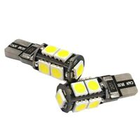 2x T10 CAR BULBS LED ERROR FREE CANBUS 9 SMD XENON WHITE W5W 501 SIDE LIGHT V5V4