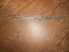 ORIGINAL METAL RANCHERO EMBLEM NAMEPLATE BADGE VINTAGE