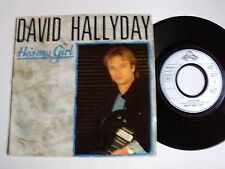 "DAVID HALLYDAY : He's my girl / Church of the poison spider 7"" 45T 888 824"