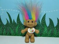 "GOOD LUCK / BINGO TROLL w/RAINBOW HAIR - 3"" Russ Troll Doll - NEW STORE STOCK"