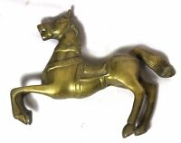 Indian Old Vintage Hand Carved Unique Brass Horse Statue Collectible Br 452