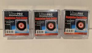 Lot of 3 Ultra Pro Souvenir Hockey Puck Storage Display Holder Cases AW4928 NEW