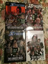 X-Factor 1, 2, 3, 4 Hard Covers 1st print Near Mint NM Retail Value $80