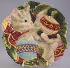 Fitz and Floyd Essentials Kitten Christmas Ornament Tree Plate Canape Wall Decor
