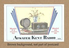 ATWATER KENT RADIO 2012 COMMEMORATIVE EDITION OF 1929 MATERIAL