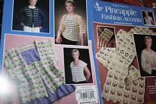 Annie's Attic Crochet Pattern Book 872414 Pineapple Fashion Accents 7 designs