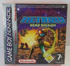 Game Boy Advance lrte Zero Mission GBA OVP-nuevo New sealed very rare raras