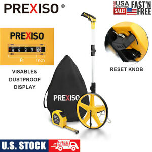 PREXISO Collapsible Distance Measuring Wheel 9999 Ft Tape Measure 16 Ft/5M w/Bag