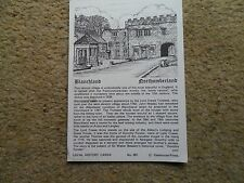 POSTCARD BLANCHLAND, NORTHUMBERLAND.LOCAL HISTORY CARD.POSTED 20.8.1984
