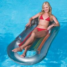 Inflatable Silver Designer Swimming Pool Reclining Lounger Lilo Adult Float 3028