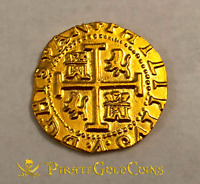 "PERU 1708 8 ESCUDOS ""1715 FLEET"" 22kt SOLID GOLD DOUBLOON COB TREASURE COIN!"
