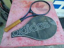 raquette de tennis vintage Adidas Space avec housse L 3 4 3/8