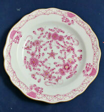Vintage Meissen Purple Indian - Pink, Gold Accents Bread Plate